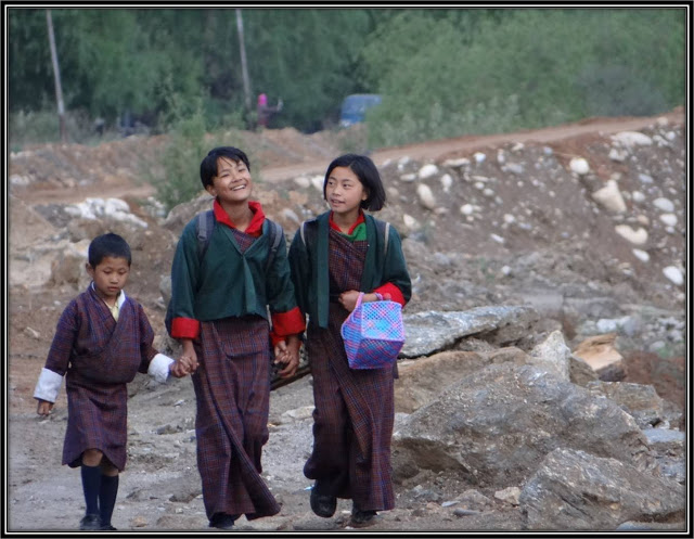 gross national happiness, school children in bhutan