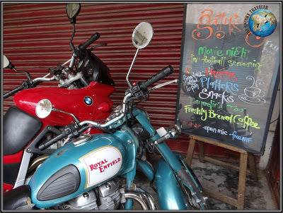 Darjeeling, Gattys cafe, motorbiking in India, Bhutan