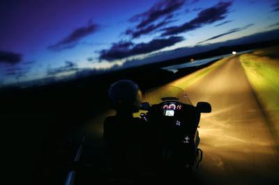 motorbiking at night