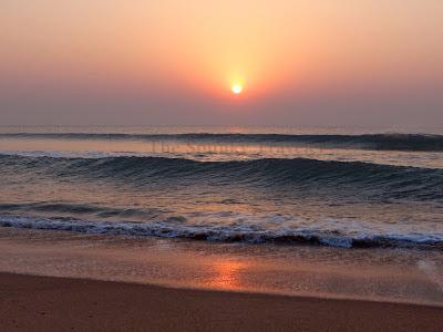 Sunrise at Gopalpur beach