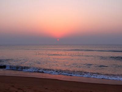 sunrise at Gopalpur beach odisha