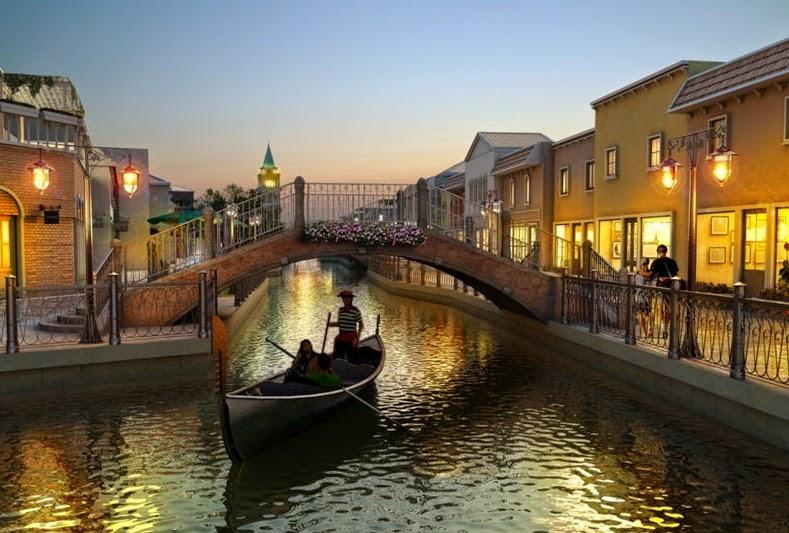 Santorini and Venezia theme park Thailand