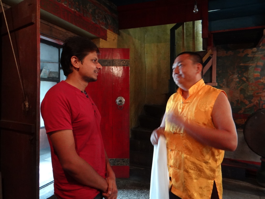 Conversation with Monk - Champi Rinzing Namgyal