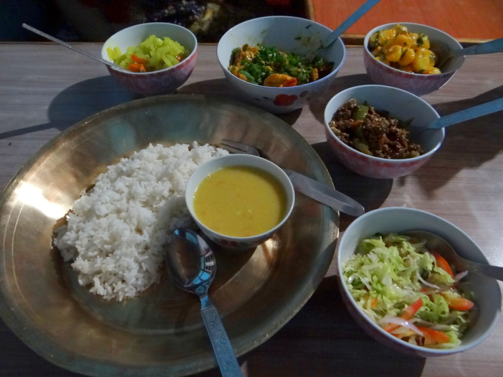 Local Bhutia food