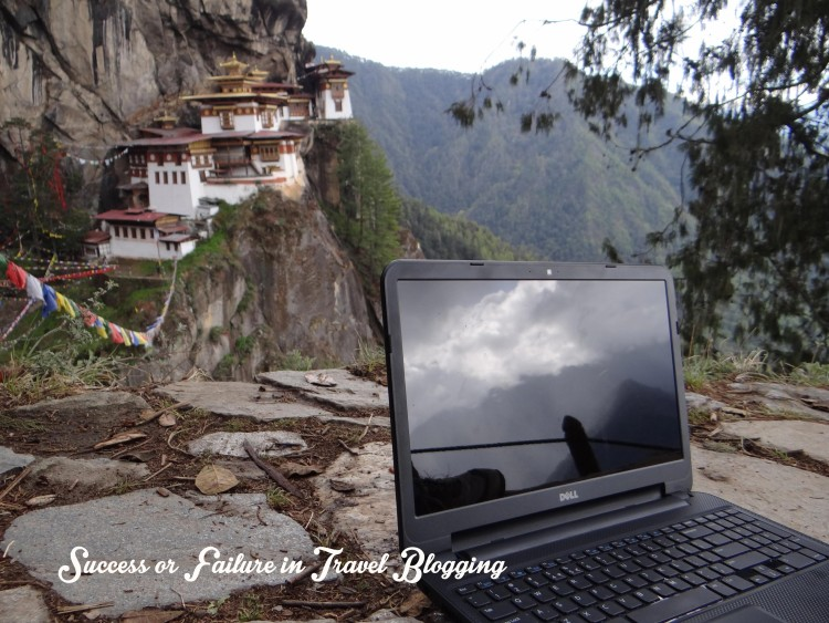 Success or failure in travel blogging