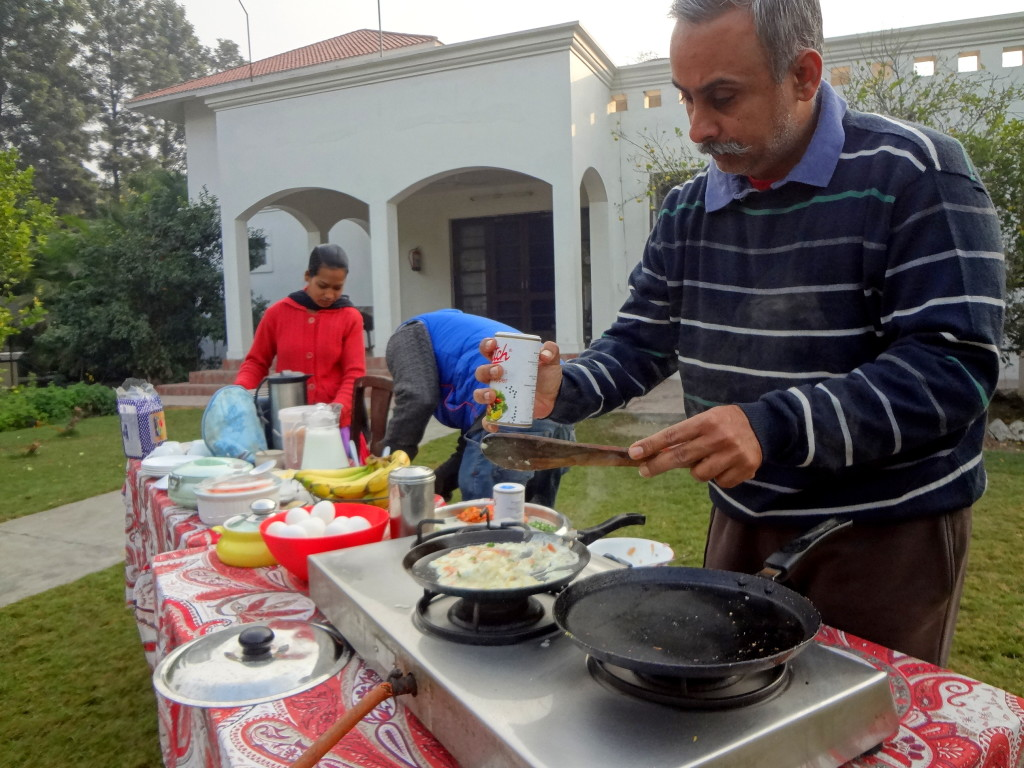 Our host Harkirat cooking breakfast