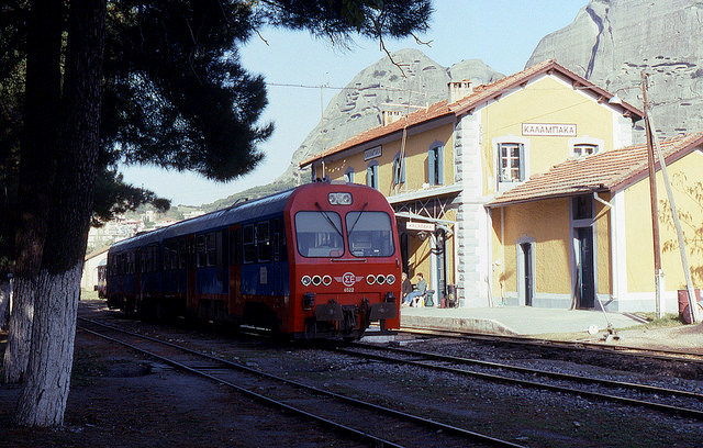 Kalambaka train station, trains in Greece, TrainOSE Greece, Travel to Meteora, Meteora by Train