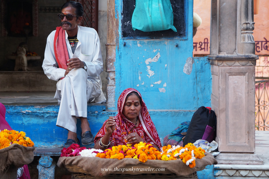 Flower seller at Varaha Ghat